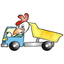Free Rooster In A Truck Stock Image - 2500441