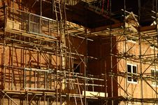 Free Night Scaffold Royalty Free Stock Photography - 2500677