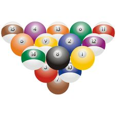 Free Snooker Or Billiard Balls Royalty Free Stock Photo - 2500895