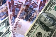 Free US Dollars And Russian Roubles Royalty Free Stock Photo - 2502755