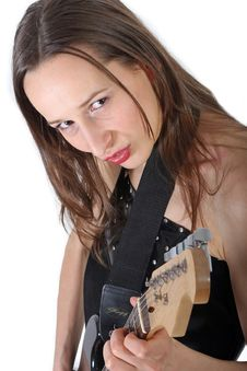 Free SEXY GIRL WITH GUITAR Royalty Free Stock Photo - 2503535