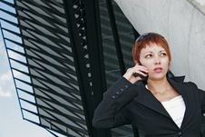 Free Woman Telephoning Royalty Free Stock Images - 2503709