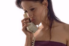 Woman Making Call Royalty Free Stock Image