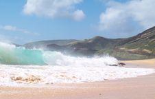 Free Beach Break Sandys Tube Right Royalty Free Stock Photo - 2503995