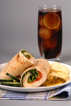 Free Turkey And Cheese Wrap Royalty Free Stock Image - 2504096