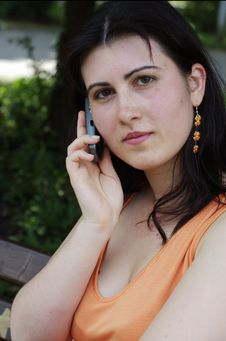 Free Woman On Cellphone Royalty Free Stock Photos - 2504368
