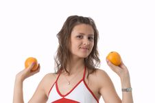 Free The Girl With Oranges Stock Photos - 2506483