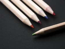 Free Coloured Pencils. Royalty Free Stock Photo - 2506965