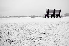 Free Snowy Bench Stock Photos - 2509093