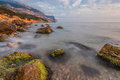 Free Rocky Coastline, Sea Background Royalty Free Stock Photo - 25002435