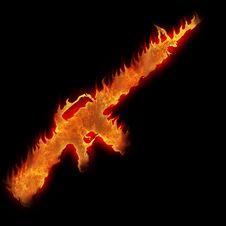 Free Burning M16 Rifle Stock Photo - 25000550