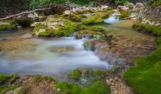 Free Nice Small Waterfall On Mountain Stream Stock Photo - 25002170