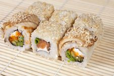 Free Japanese Sushi Rolls Royalty Free Stock Photos - 25002558