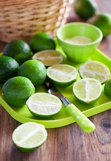 Free Limes Royalty Free Stock Photo - 25002605