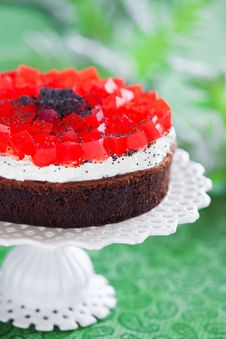 Free Poppy Seeds And Chocolate Cake Stock Photography - 25002622