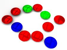 Free Red Blue Green Beads Royalty Free Stock Images - 25003169