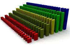 Colored Increasing Bar Graph Royalty Free Stock Image