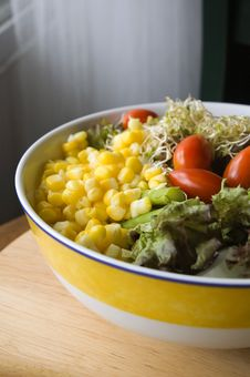 Mixed Salad In Bowl Royalty Free Stock Images