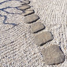 Free Stone Pathway Royalty Free Stock Photo - 25004195