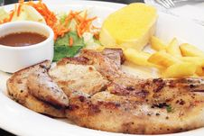 Free Grilled Pork Chop Stock Image - 25004341