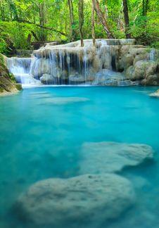 Free Erawan Waterfall, Kanchanaburi, Thailand Stock Photo - 25009110