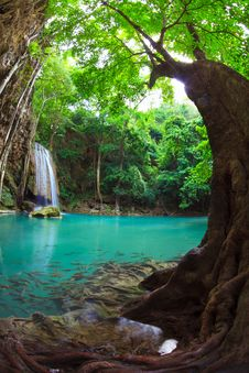 Free Erawan Waterfall, Kanchanaburi, Thailand Stock Photo - 25009140