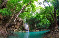 Free Erawan Waterfall, Kanchanaburi, Thailand Stock Photos - 25009173