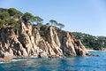 Free Spain.  Lloret De Mar. The Rocky Coast. Royalty Free Stock Image - 25016436