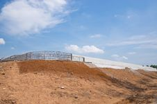 Free Concrete Dam With Blue Sky Royalty Free Stock Photography - 25010857