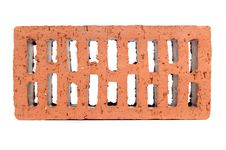 Free Red Perforated Brick Stock Photo - 25014340