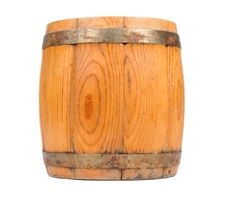 Free Wooden Barrel Royalty Free Stock Image - 25014396