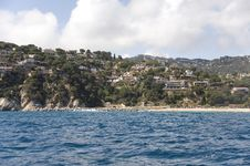 Free Spain. Costa Brava. Houses On The Rocky Coast. Stock Image - 25016531