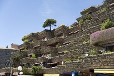 Free Spain. Tossa De Mar. Hotel On The Mountain. Royalty Free Stock Photo - 25016565