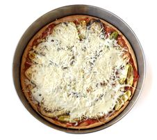 Middle Eastern Vegetarian Pizza With Cheese Royalty Free Stock Photos