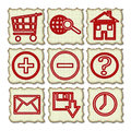 Free Hand Drawn Web Icons Royalty Free Stock Photography - 25022457