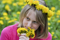 Free Happy Girl In The Field Of Dandelions Stock Photos - 25029303