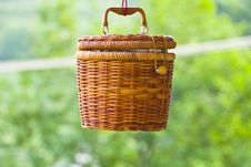 Free Rattan Basket Royalty Free Stock Photos - 25020408