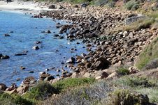 Free Rocky Coast At Yallingup Stock Images - 25021524