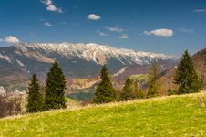 Free Landscape With Mountains In The Summer Royalty Free Stock Image - 25026706