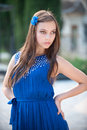 Free Girl In Blue Royalty Free Stock Photo - 25030525