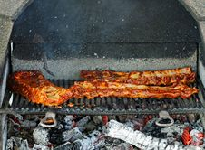 Meat On Grill Royalty Free Stock Photography