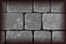 Free Black And White Textured Brick Royalty Free Stock Photos - 25033398