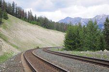 Canadian Railway. Royalty Free Stock Photo