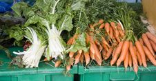 Free Carrots And Swiss Chard Royalty Free Stock Photo - 25035335