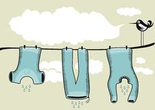 Free Drying Clothes Background Stock Photos - 25038723