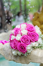 Free Flowers Roses Wedding Bouquet In Fountain Sprays Water Droplets Royalty Free Stock Image - 25049756