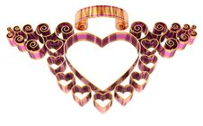 Free Beautiful Twisted Frame With Hearts And Curls Stock Images - 25041374