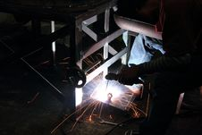 Free Sparks From Welding Royalty Free Stock Images - 25042649