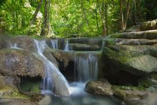 Free Deep Forest Waterfall Royalty Free Stock Photo - 25042995