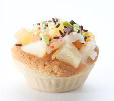 Free Mix Fruits Vanilla Cupcake Stock Photos - 25043303
